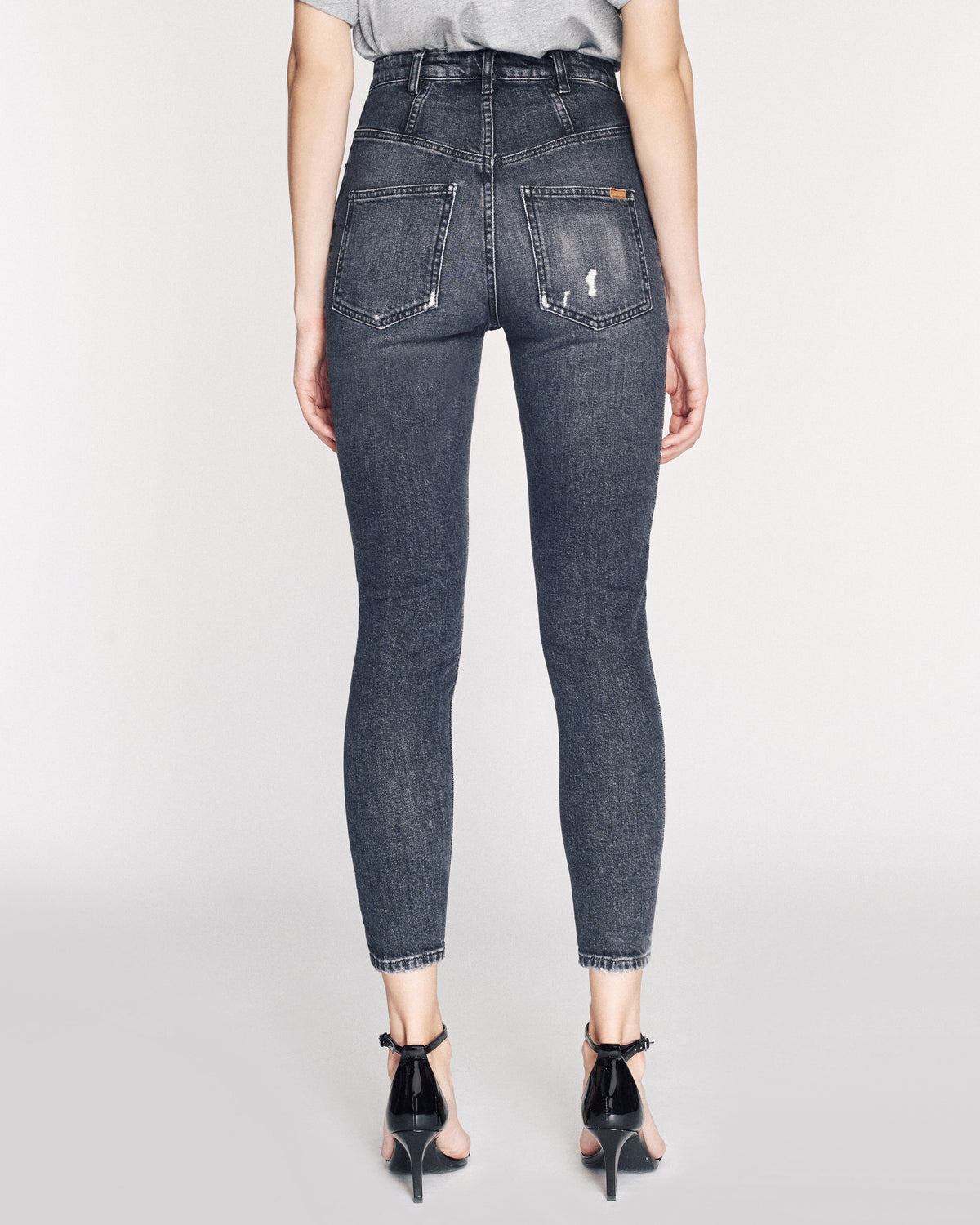 Emma Denim Pant in Faded Black Stone Wash