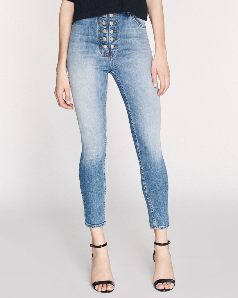 Emma Denim Pant in Indigo Medium Stone Wash