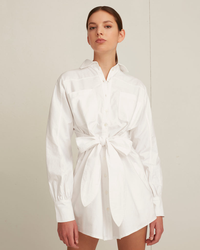 Emmerson Mini Shirt Dress in White