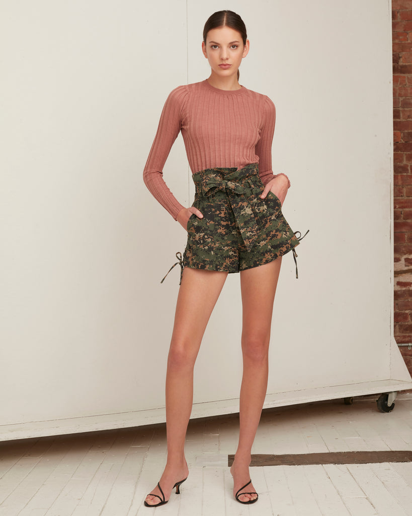Gia Canvas Print Short in Army Digital Camo