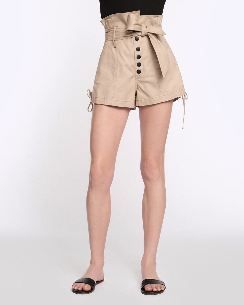 Gia Canvas Shorts in Sandshell