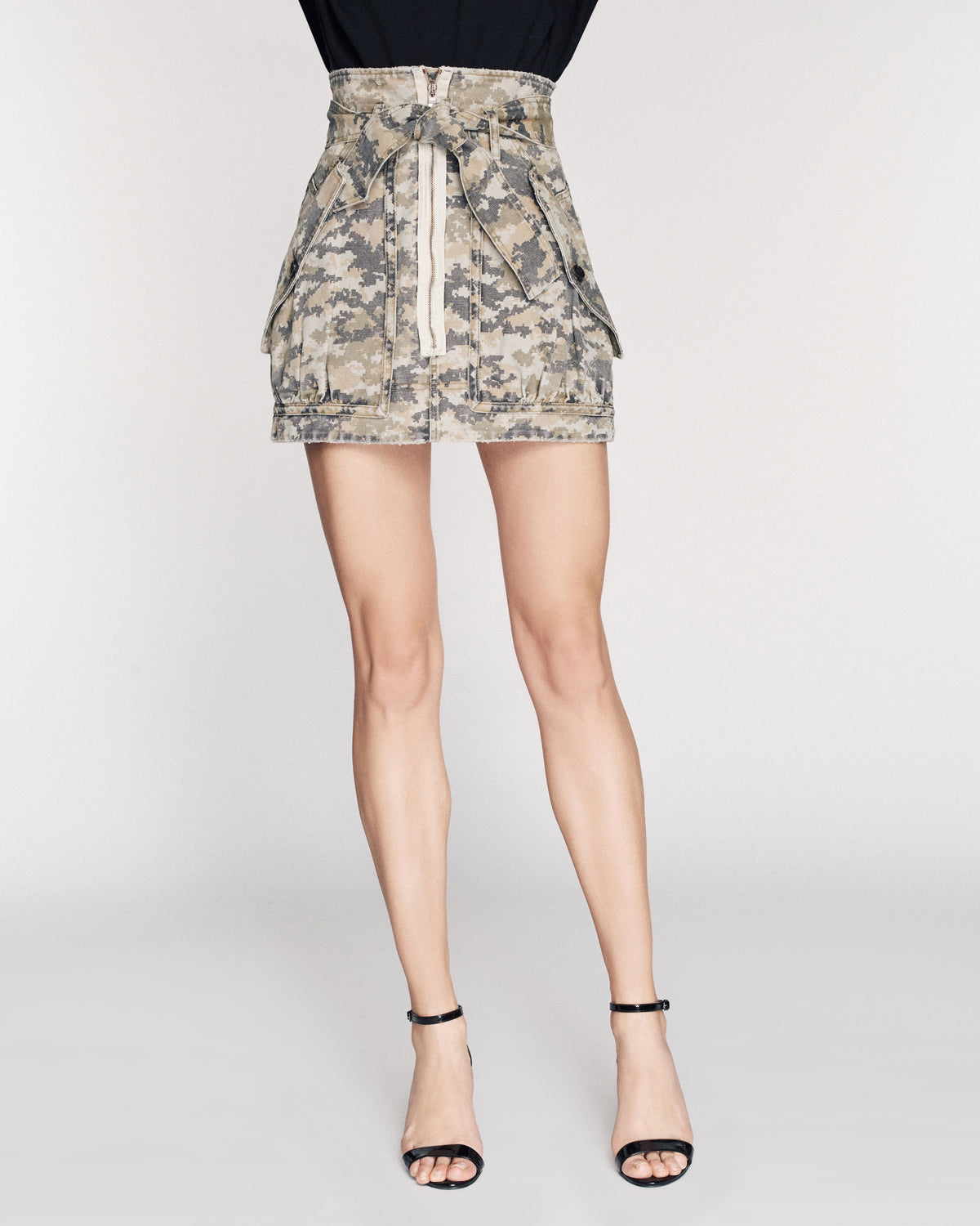 Hannah Canvas Camo Skirt
