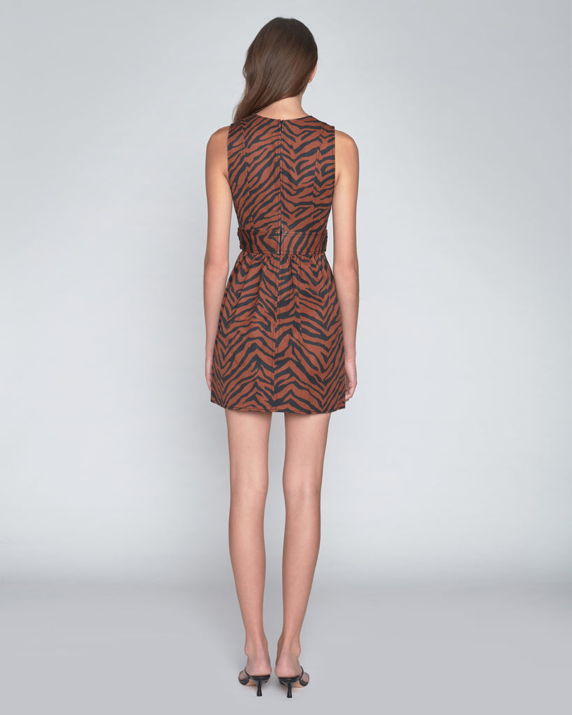 Jones Heavy Canvas Zebra Print Dress
