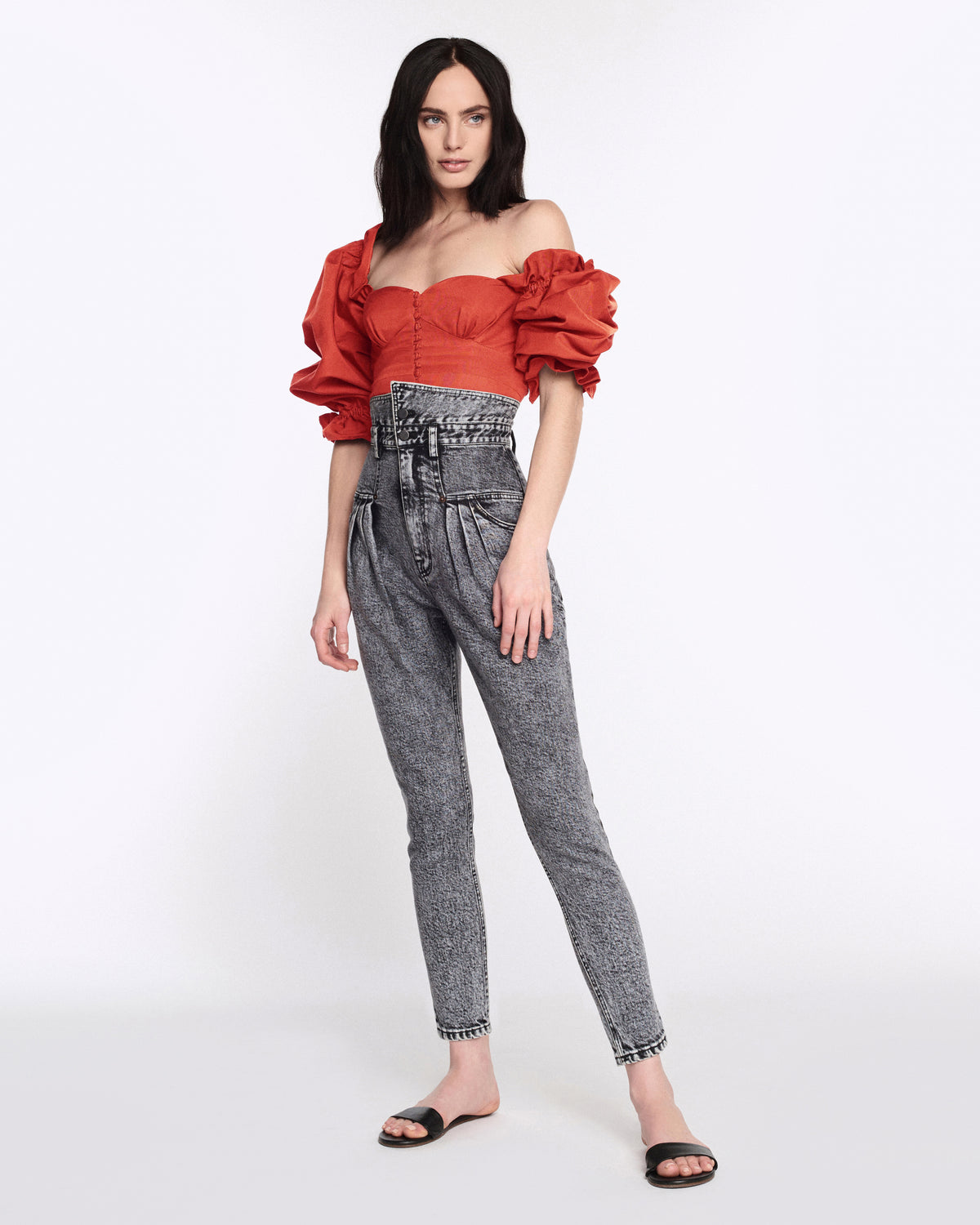 Kai Faille Top in Cardinal Red