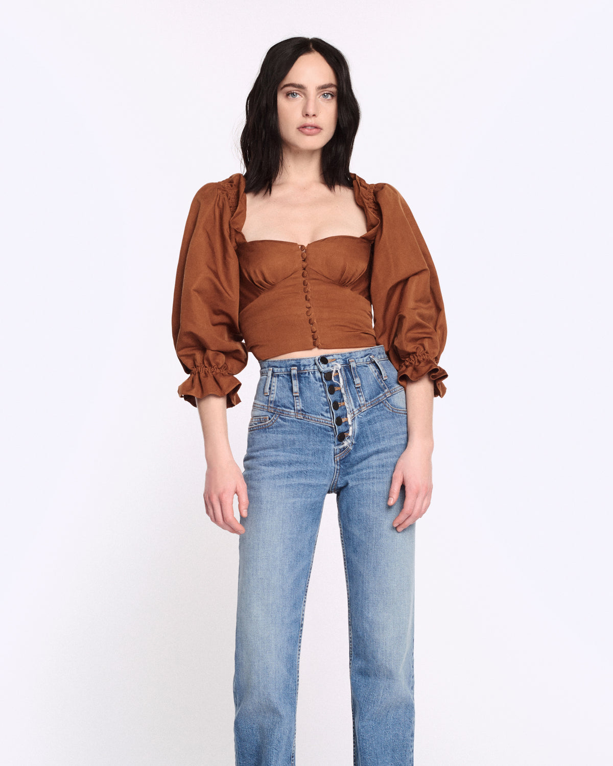 Kai Faille Top in Copper Brown