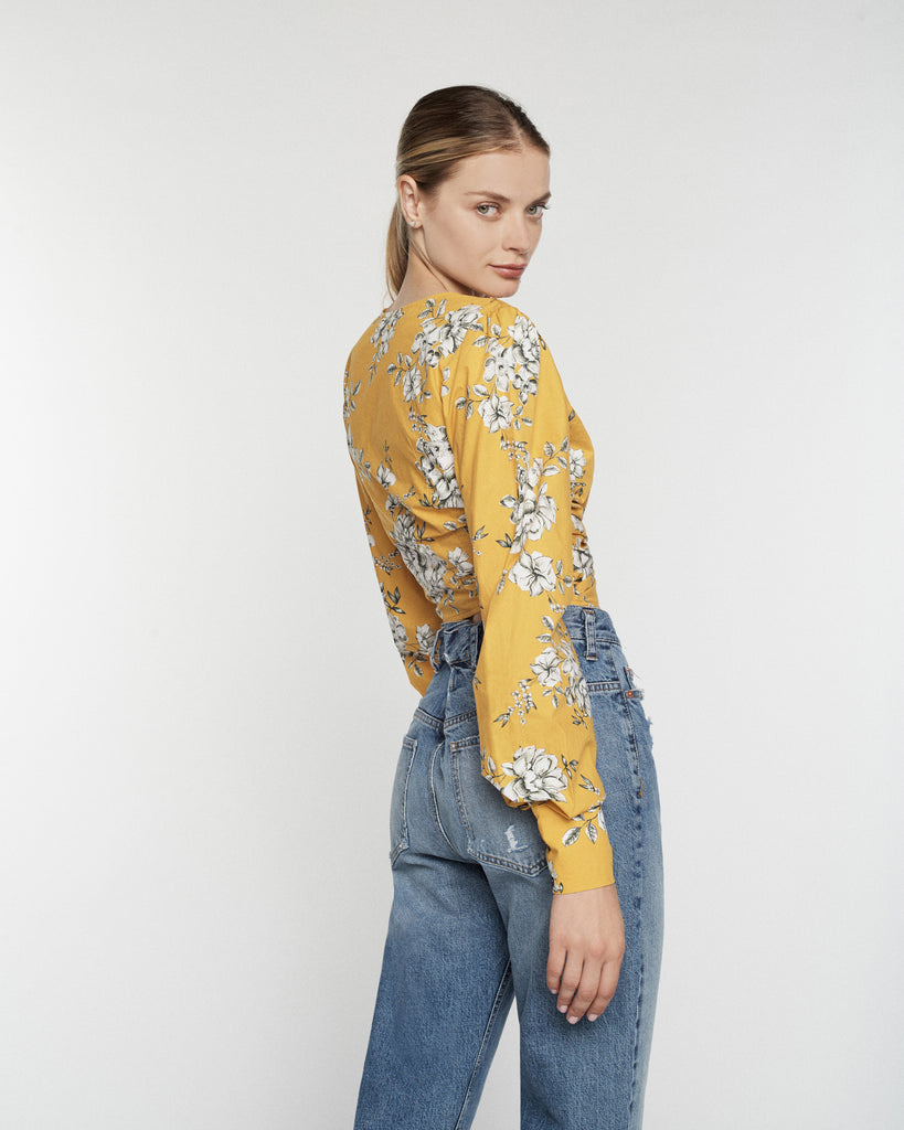 Karlee Twist Print Top