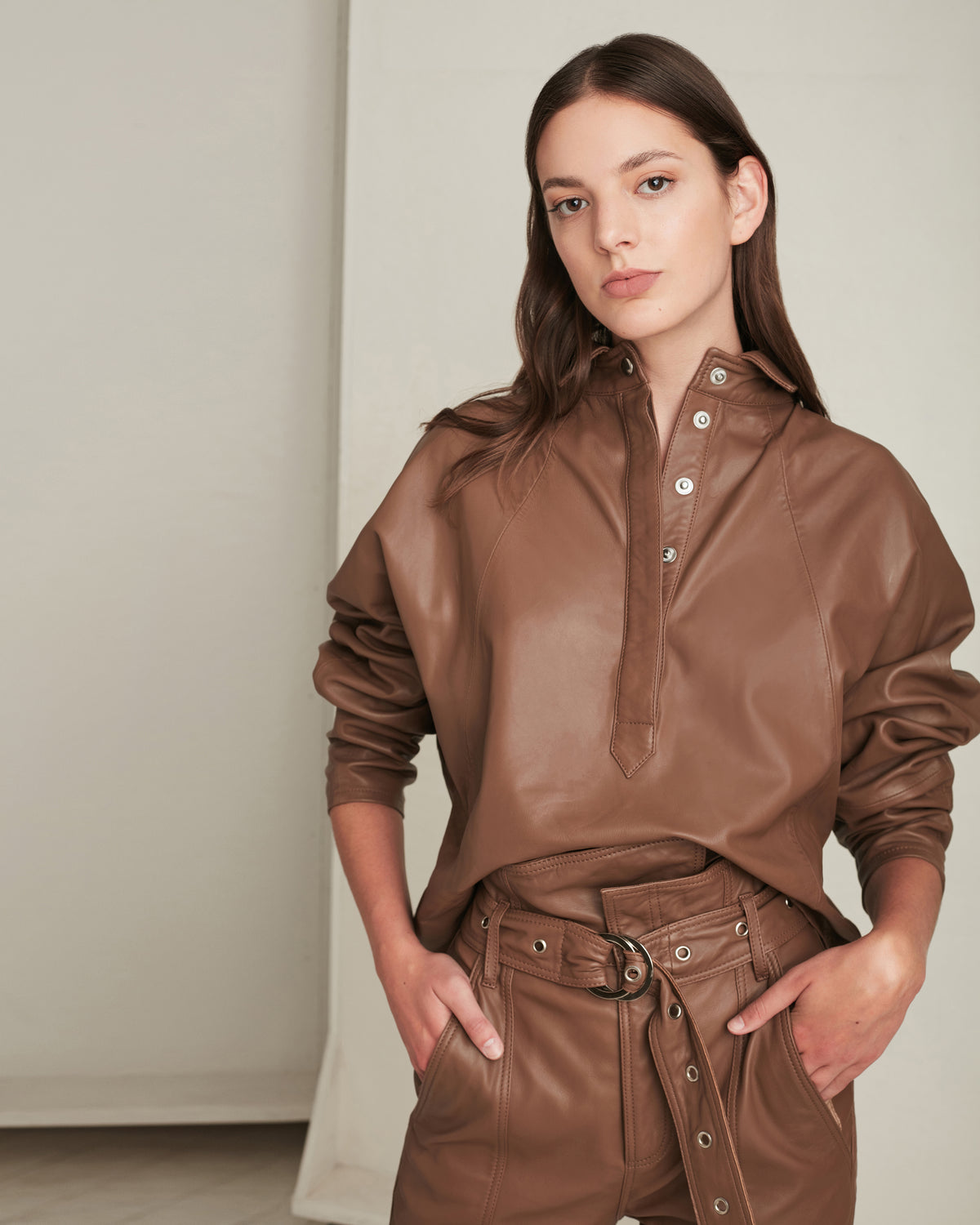 Madi Leather Tunic Top