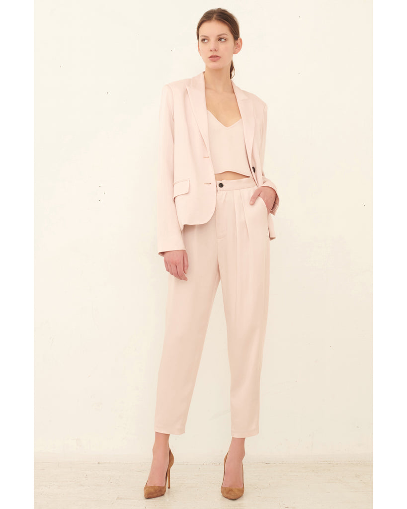 Riley Satin Crepe Trouser_Blush_Front Lookbook
