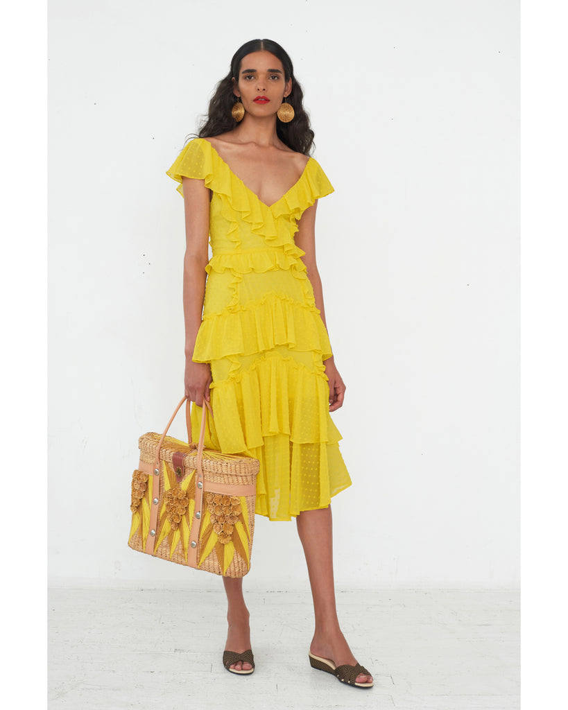 Dion Dress in Canary Yellow