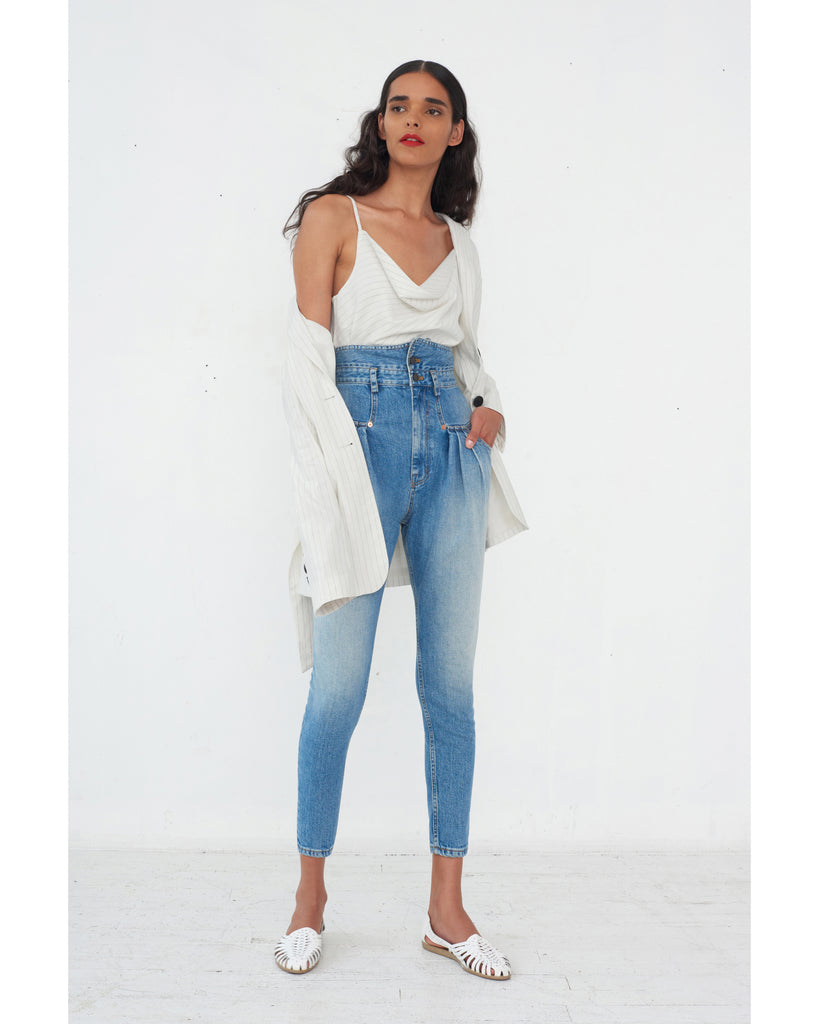 Whitney Denim Pant in Indigo Medium Stone Wash