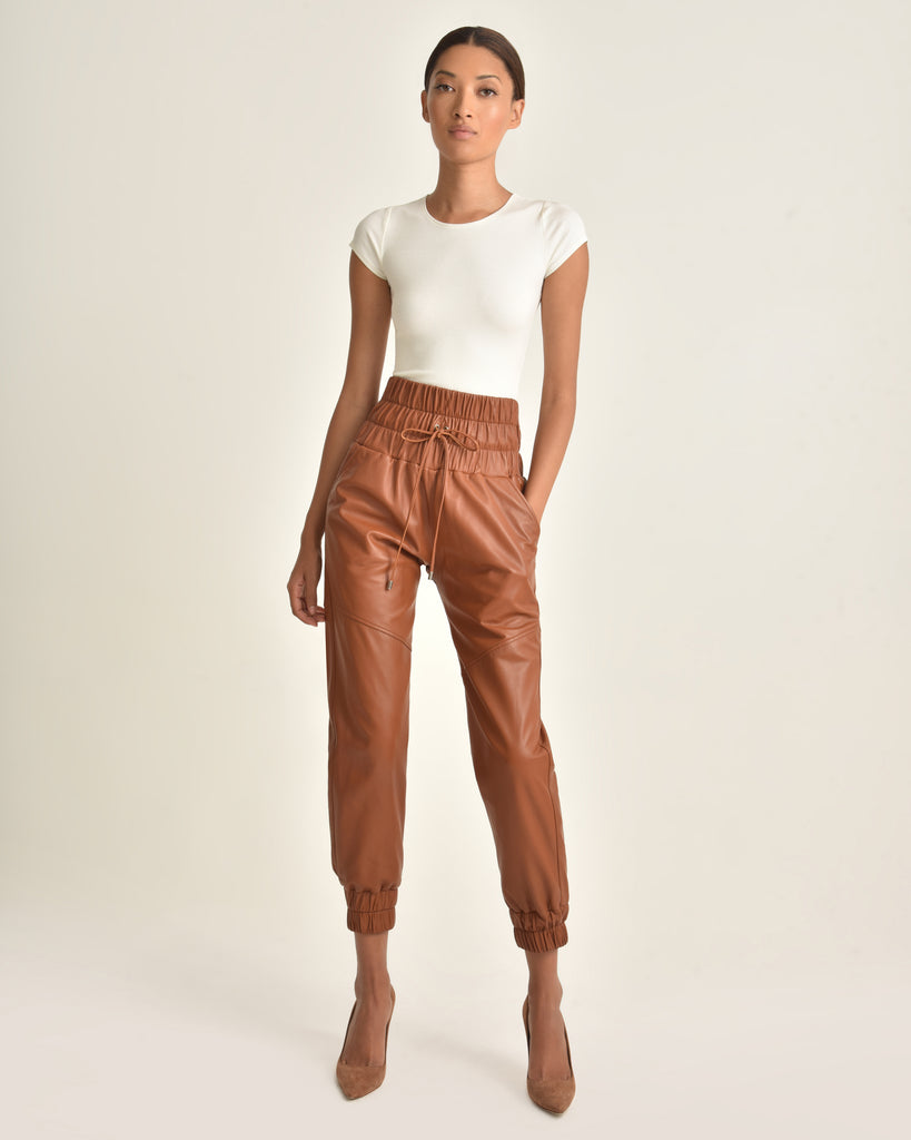 Dalton Leather Jogger_Sienna_Front 2