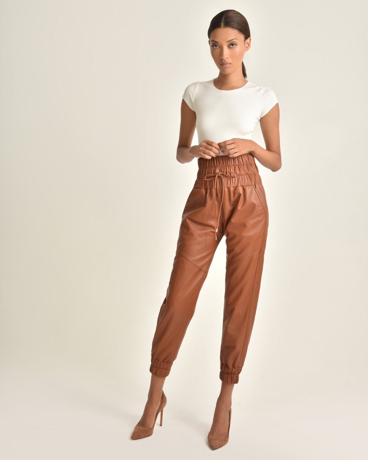 Dalton Leather Jogger_Sienna_Front 4