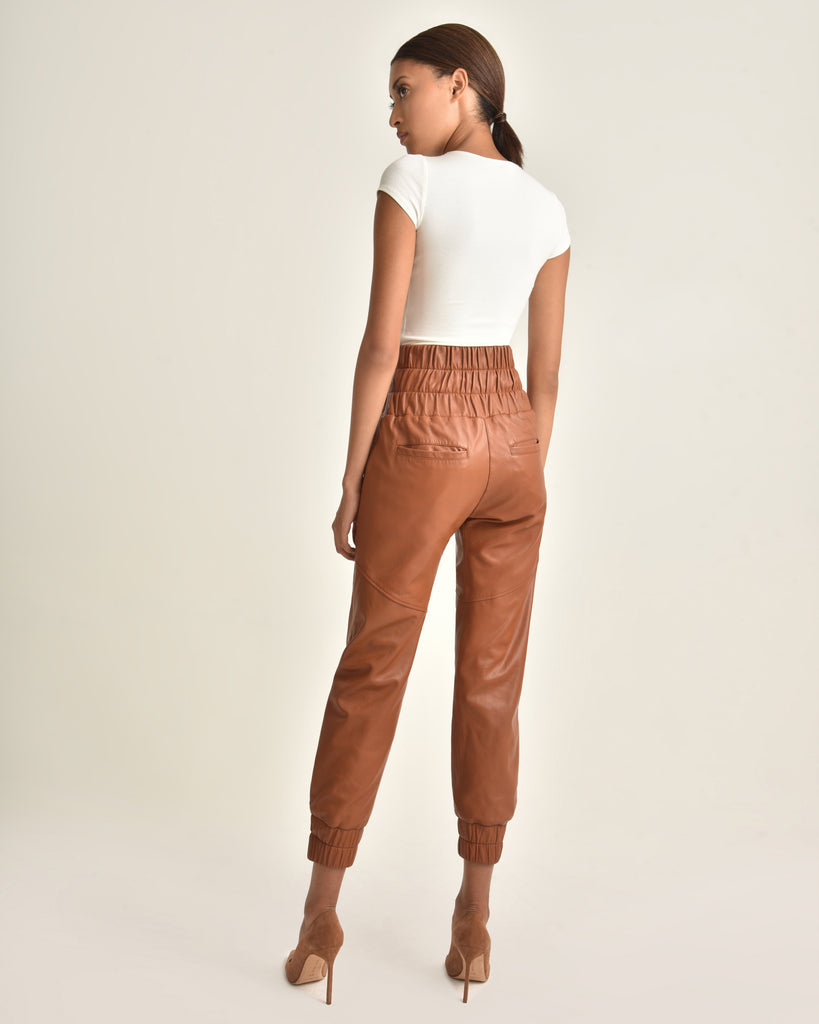 Dalton Leather Jogger_Sienna_Back