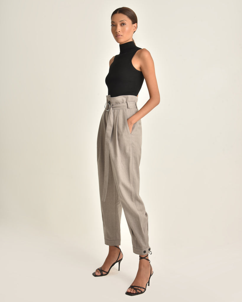 Billy Retro Pops Trouser_Taupe_Side