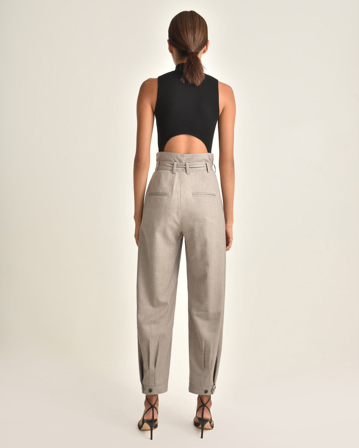 Billy Retro Pops Trouser_Taupe_Back