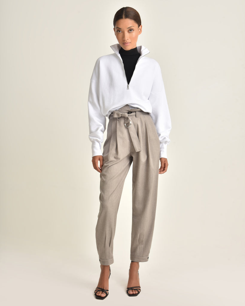 Billy Retro Pops Trouser_Taupe_Front 3
