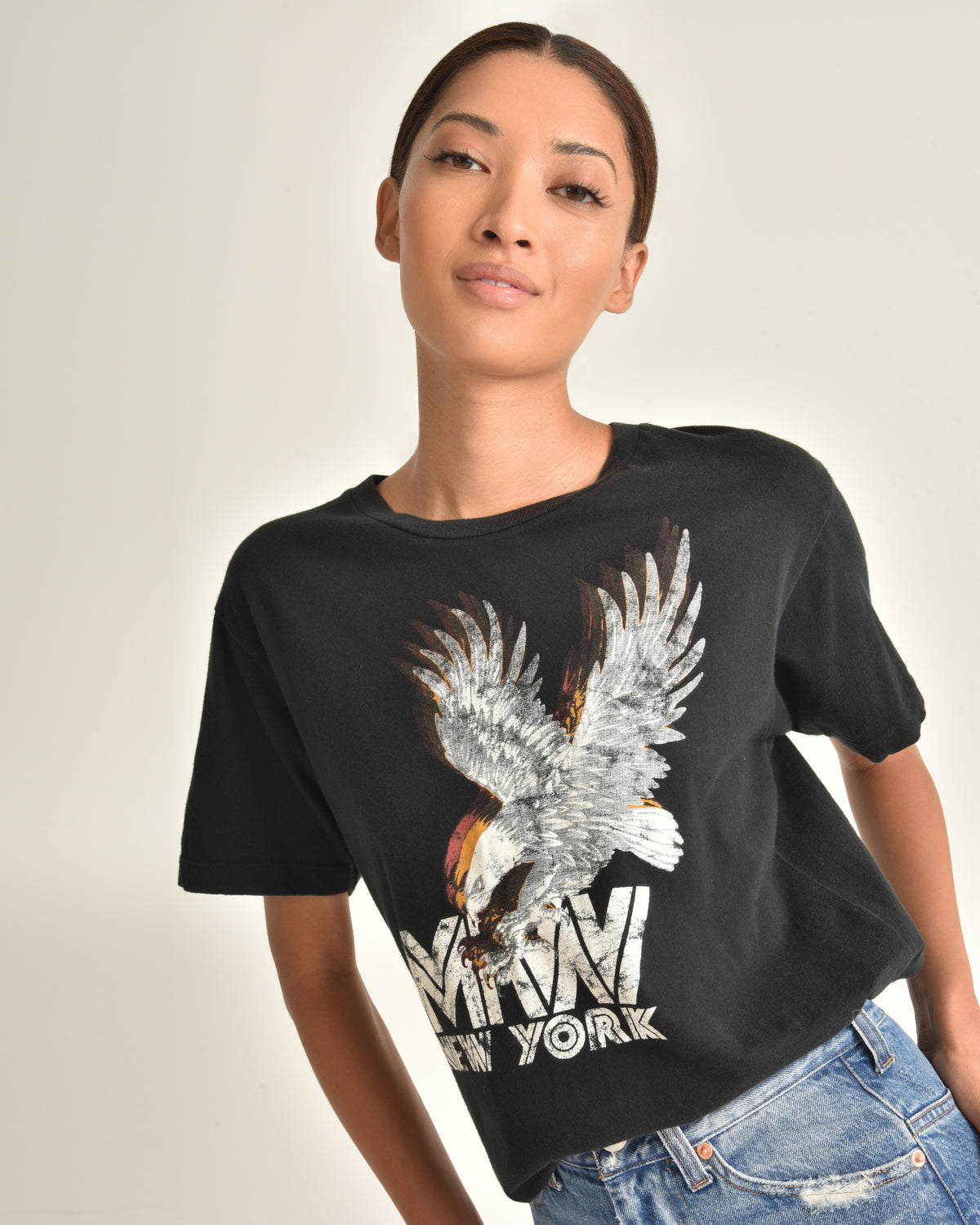 Eagle Graphic Tee_Black_Front
