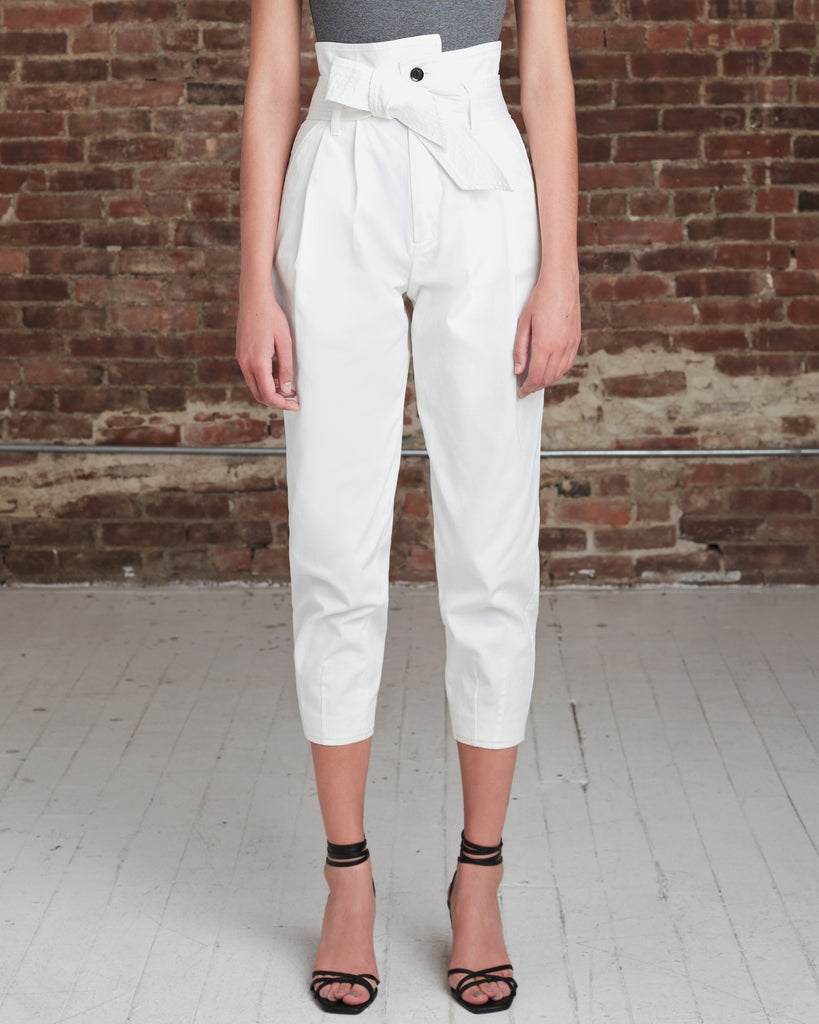 Piper Pegged Leg Pant in Soft White