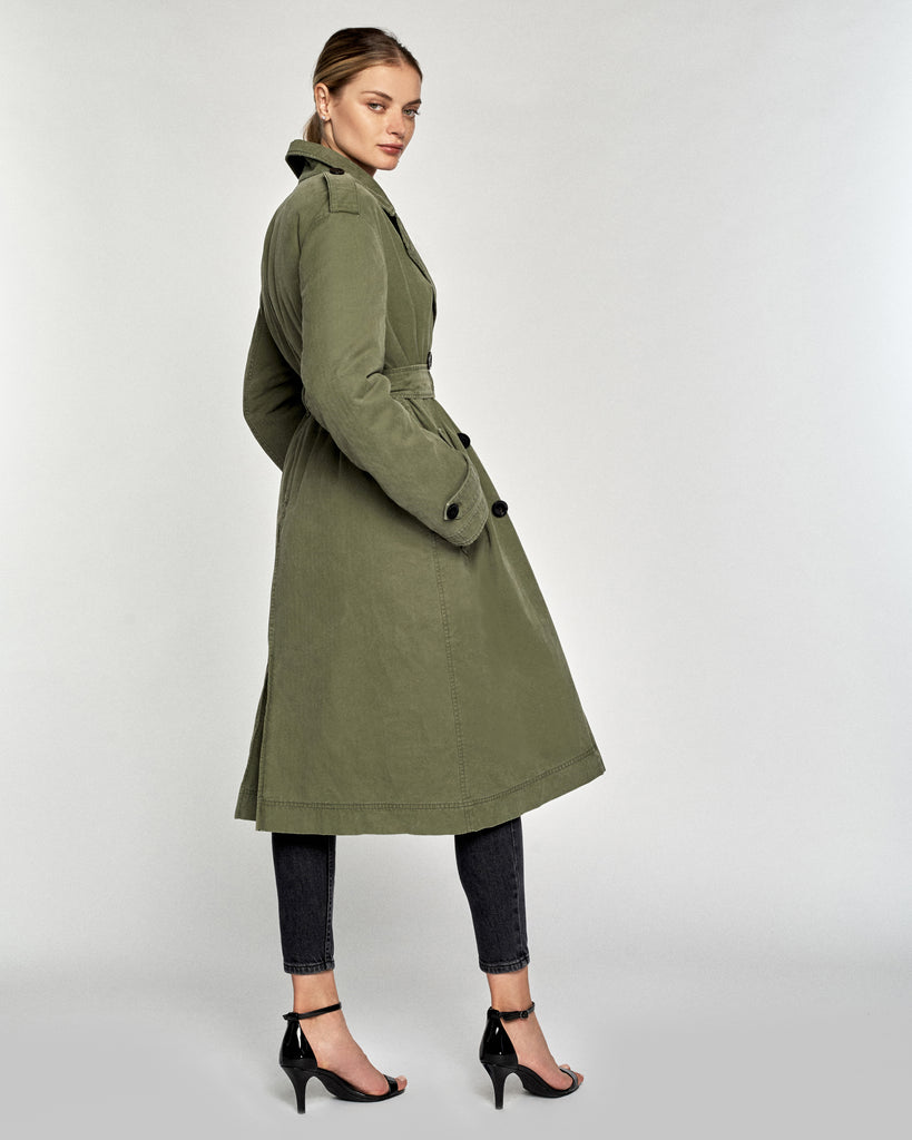Raleigh Quilted Trench Coat