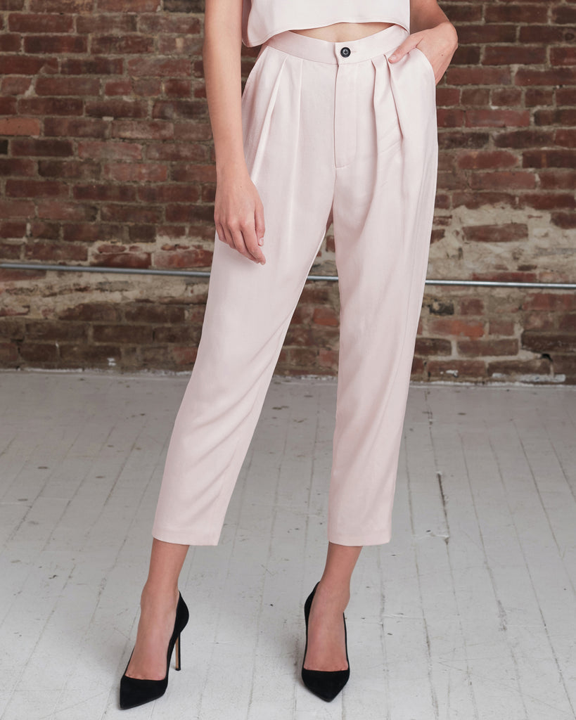 Riley Satin Crepe Trouser