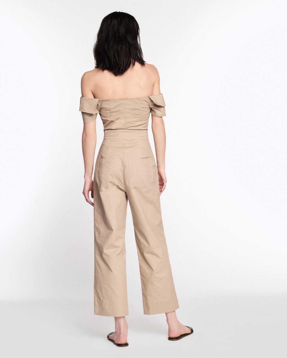 Rylan Canvas Jumpsuit in Sandshell
