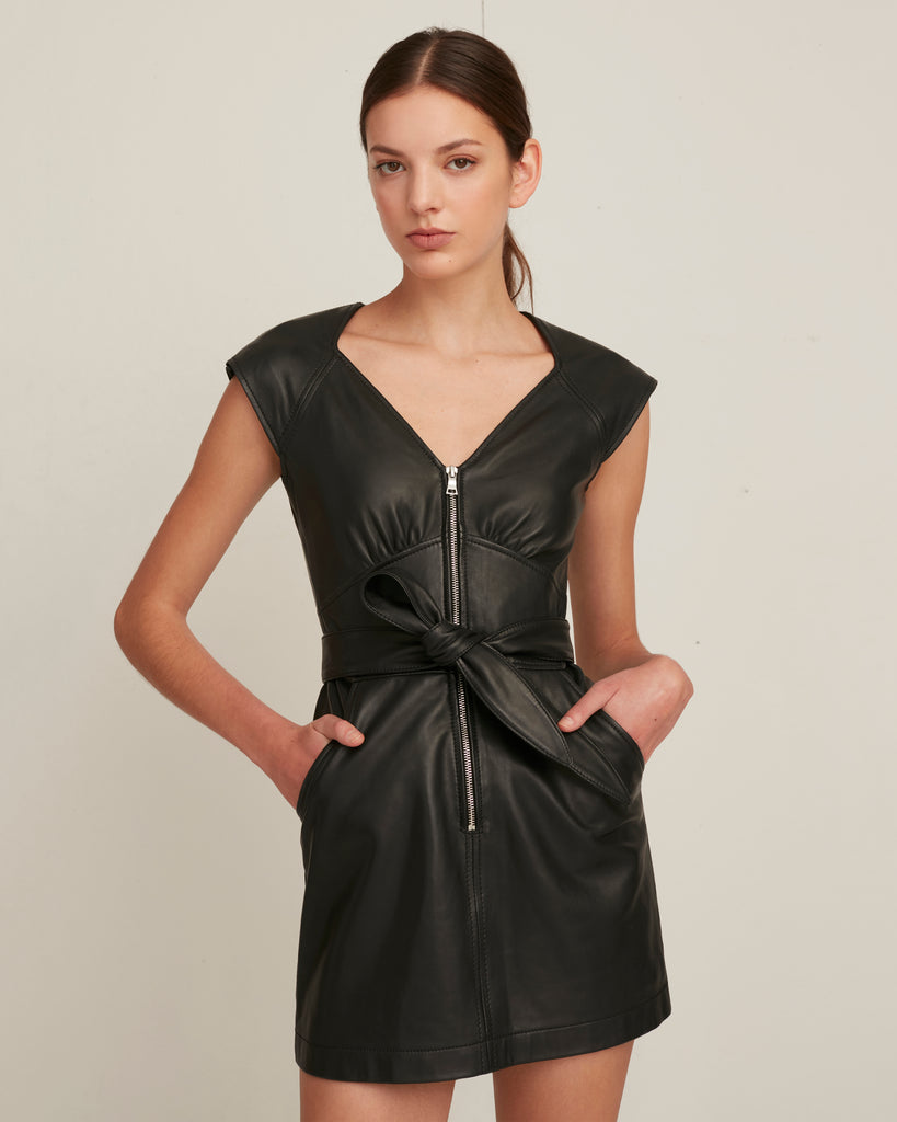 Ryland Leather Mini Dress