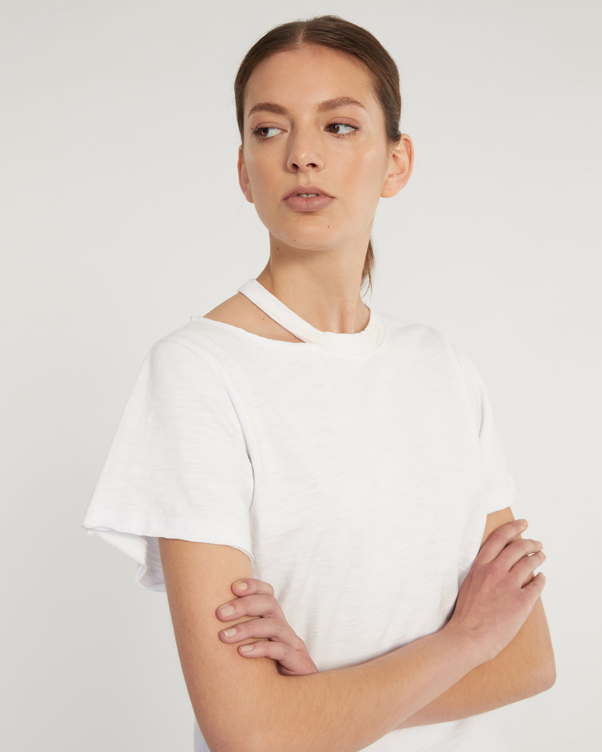 Tate Cut Out Tee in White