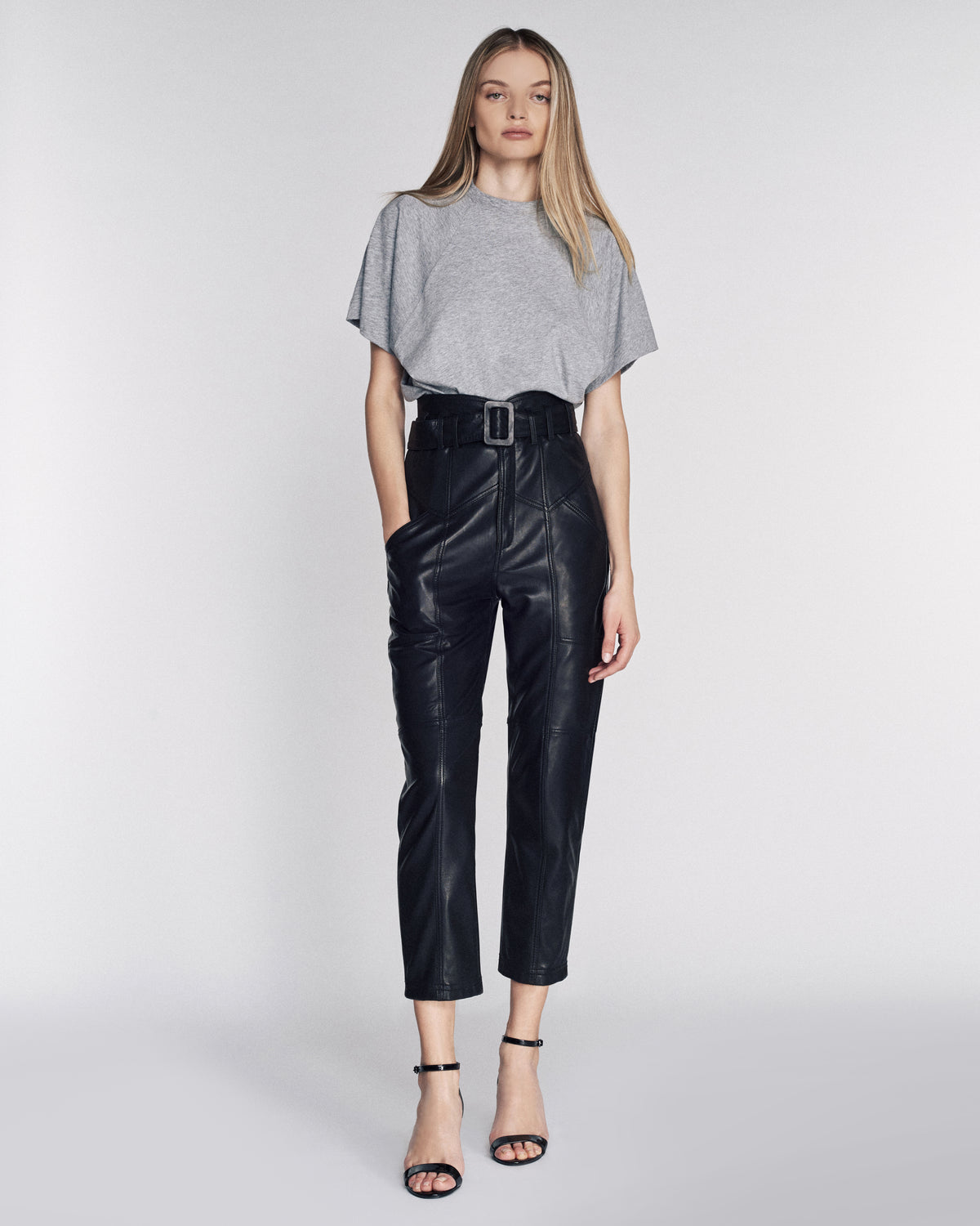 Wayne Leather Pant in Black