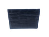 American Alligator Skin Card Case Navy