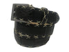 Caiman Skin Cross Stitch Belt Black