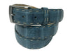 Caiman Skin Pick Stitch Belt Turquoise