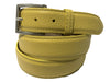 Calf Skin Pebble Belt Yellow Classic