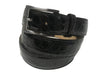 Alligator Skin Glossy Belt Black
