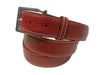 Lizard Skin Belt Red / White Stitch