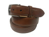 Calf Skin Solid Belt Cognac
