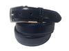 Calf Skin Solid Belt Navy