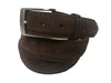 Calf Skin Suede Belt Brown Classic