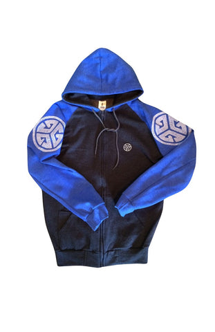 Comfortable soft fleece zip hooded sweatshirt