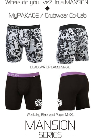 Mansion Series Grubwear MyPackage Men's Boxer Briefs