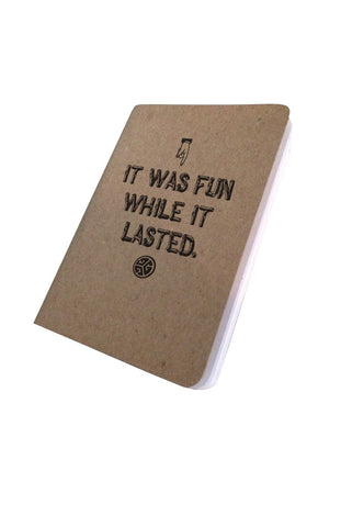 Grubwear Note Books - It was fun while it lasted