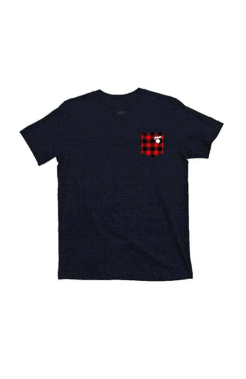 RED PLAID Lumberjack Pocket Print by Grubwear