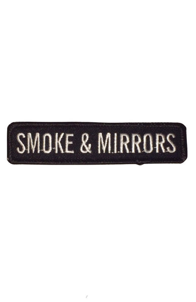 """Smoke & Mirrors"" Embroidered  Patch"