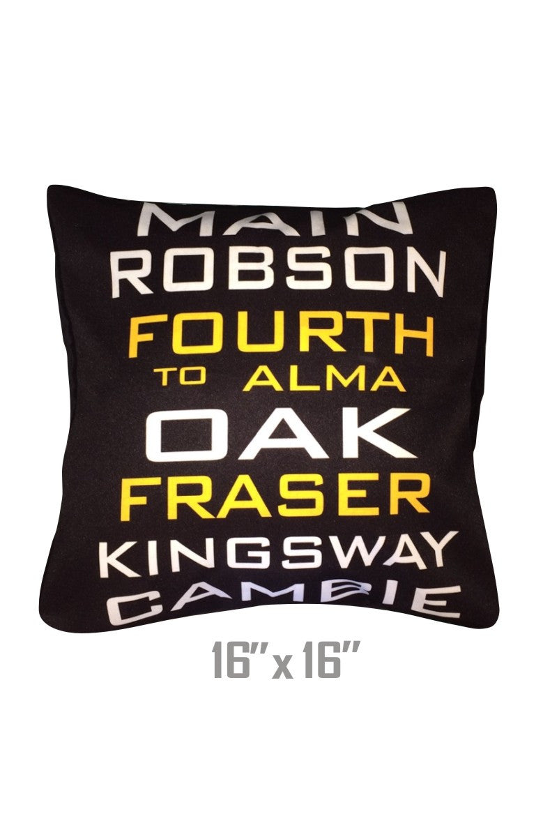 VANCITY Bus Scroll Throw Pillow