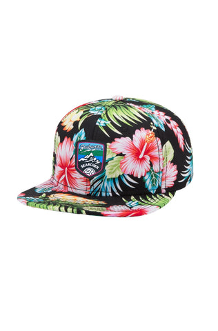 Floral 6-Panel Snapback by Grubwear