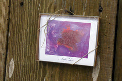 'Purple Clouds' by S.R. Bricka, box set of greeting card, Art for God's Glory