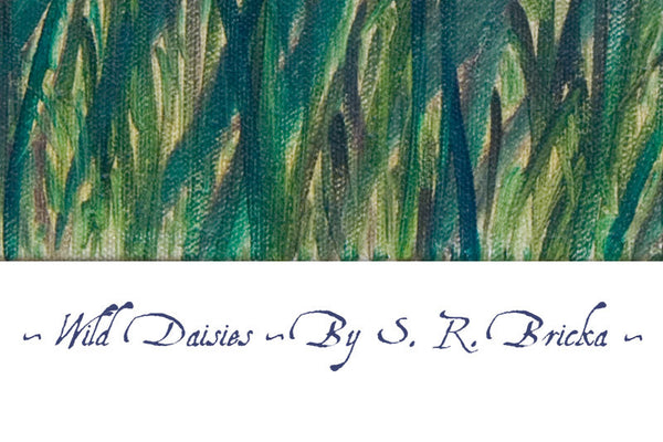 'Wild Daisies' by S.R. Bricka, Poster Print Detail, Art for God's Glory
