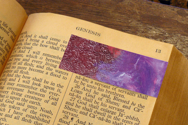 'Purple Clouds' by S.R. Bricka, Bookmark in the Bible, Art for God's Glory