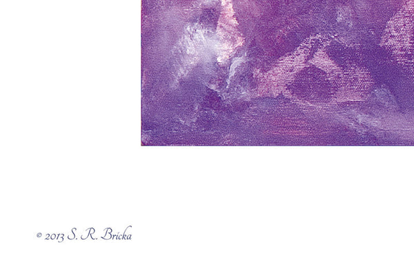 'Purple Clouds' by S.R. Bricka, Poster Print Detail, Art for God's Glory