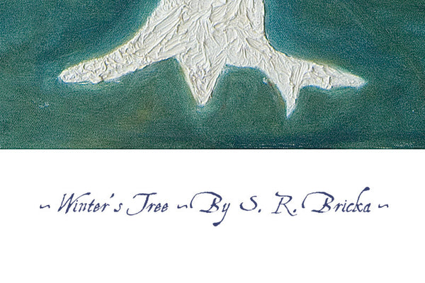 'Winter's Tree' by S.R. Bricka, Poster Print Detail, Art for God's Glory
