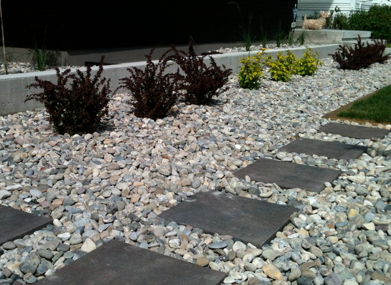 A landscaped stepping stones design